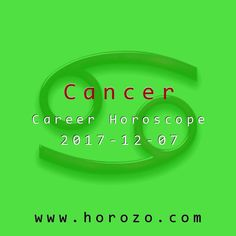 Cancer Career horoscope for 2017-12-07: Get down to business and take care of the mundane responsibilities that come with the job. Big-picture tasks will have to wait until you can get all the little details handled first. If you get to work asap, you should be ready for the important stuff in no time..cancer