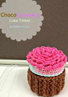 BluBox of Love: Choco Strawberry Cake Trinket Tutorial
