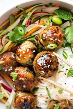 Lemongrass aubergine neatballs – Lazy Cat Kitchen Lemongrass aubgerine neatballs are easy to make and a joy to eat. They are delicious baked or fried. They are a plantbased alternative to meatballs. Veggie Recipes, Asian Recipes, Whole Food Recipes, Vegetarian Recipes, Dinner Recipes, Cooking Recipes, Healthy Recipes, Vegan Eggplant Recipes, Vegetarian Tapas