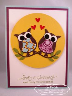 Stampin' Up Owl Anniversary by Andi Potler, ABsolute Kreations #OwlBuilder #AWordForYou