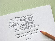 I'm not a talented artist - but I might do this with pictures.  Lord knows we're going to have quite the collection of houses :)