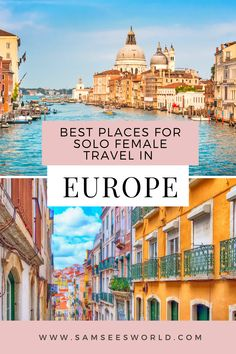 15 Best places for Solo female travel in Europe. #Europe #Travel #Solo #Female