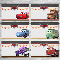 Disney Cars Food Tents Chalkboard Cars Food by ItsACowsOpinion Disney Cars Party, Disney Cars Birthday, Cars Birthday Parties, Birthday Party Favors, Car Food, Food Tent, Lightning Mcqueen, Auto Party, Car Party
