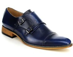 - Monk Strap Slip On Dress Shoes Run Half Size Small - Department Name:Adult Shoe Width:Medium(B,M) Platform With Platforms:Yes Closure Type:Slip-On Toe Shape:Round Toe Insole Material:Ru Blue Shoes, Men's Shoes, Shoe Boots, Clothes For Big Men, Double Monk Strap, Slip On Dress Shoes, Monk Strap Shoes, Mens Fashion Shoes, Casual Boots