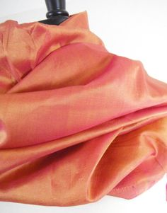 luscious orange silk sari scarf
