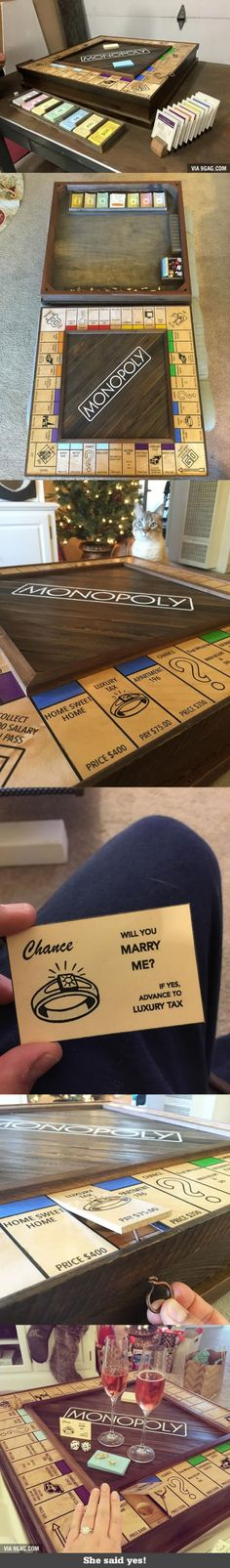 This dude proposes using custom-made monopoly board with secret compartment