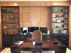 Custom Home Office - Wall Panels and Built In