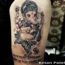 What does ganesha tattoo mean? We have ganesha tattoo ideas, designs, symbolism and we explain the meaning behind the tattoo. Ganesha Tattoo, Elephant Tattoos, Tattoo Removal, Tattoos With Meaning, Tattoo Studio, Cool Tattoos, Instagram Images, Abs, Ahmedabad