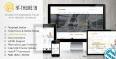 RT-Theme 18 Responsive WordPress Theme is a Theme being distributed by Themeforest. RT-Theme 18 Responsive WordPress Theme is suitable - Template Wordpress, Tema Wordpress, Premium Wordpress Themes, Wordpress Plugins, Ecommerce, Website Design Inspiration, Design Blog, Design Design, Theme Forest