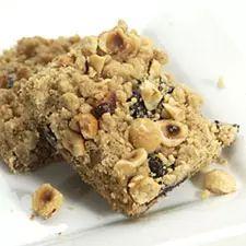 Gluten-free chocolate-hazelnut bars.