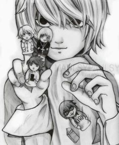"""Near. Mello. L. Death Note. """"Mello knew... He knew that alone, we aren't able to attain our goal, to surpass L. But together... Together we can stand with L. Together we can surpass L! And right now, we are confronting Kira who defeated L... with solid evidence!"""" Probably my favorite part of this anime. I love most how he keeps saying """"we"""" even though Mello is dead :) Go Near!"""