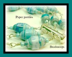 Excited to share the latest addition to my #etsy shop: Paper pretties...Handmade wire wrapped three strand paper beaded bracelet and earring set http://etsy.me/2DFXvLk #jewelry #beadsnoops #handmadebysheila #handmadepaperbeads #paperbeads #wirewrapping #jewelryset #thr