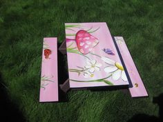 Children's picnic table I hand painted.