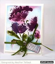 Featuring Penny Black's new brushstroke stamps: Download complete supplies and instructions on our blog.