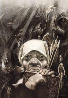 ČUMA (Chuma) - pestilent witch (female demon like creature) #Slavic, #Mythology