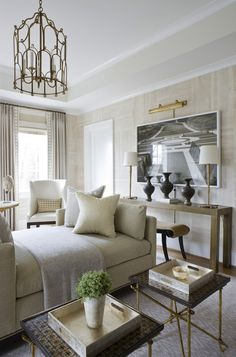 Sophisticated neutrals - daybed - extra seating