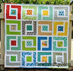Moda Bake Shop Jungle Path baby quilt by sewcraftyjess, with the quilt pattern with free instructions! Baby Quilt Tutorials, Quilting Tutorials, Quilting Projects, Quilting Designs, Sewing Projects, Quilt Design, Jelly Roll Quilt Patterns, Baby Quilt Patterns, Quilting Patterns