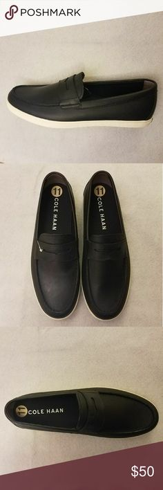 Cole Haan Hyannis Black Leather Loafer Shoes New Cole Haan Mens Size 11 Hyannis Black Leather Penny Loafer II Shoes C26427. Please see photos for specifics.  Thank you for your business!   Inventory: M07ES26 Cole Haan Shoes Loafers & Slip-Ons