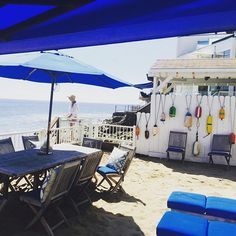 At a friend's beach house in Malibu.... What a Beautiful ocean today   by georginamoffat