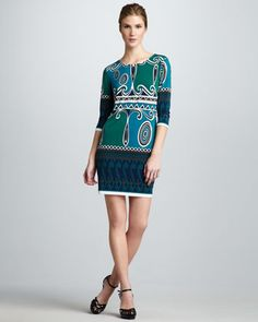 Printed Jersey Dress by Ali Ro at Neiman Marcus.