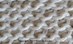 Tunisian Crochet - Tunisian Purl Stitch