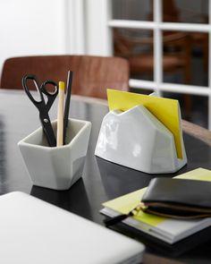 Officina Pen Holder in Light Grey by Kahler Design