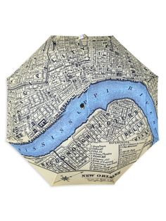New Orleans Map Umbrella