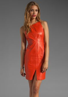 Susana Monaco Anabel Leather Dress in Sevilla