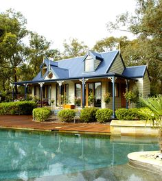 Sweetwater Cottage Picture of and traditional design single storey design narrow site design level site design floor plans all 3 bedroom Granny Pod, Storybook Homes, Storybook Cottage, Cottage Floor Plans, Small House Plans, Kit Homes Australia, South Australia, Western Australia, Mother In Law Cottage