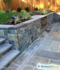 Merveilleux Aluminum Drainage Grates In Stone Patio Makeover. Buy Now At  DrainageKits.com