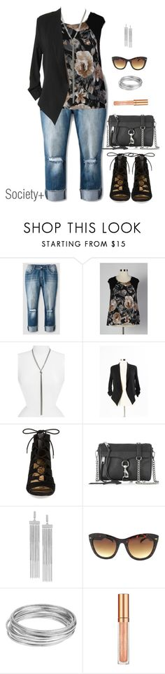 """Plus Size Structured Blazer - Society+"" by iamsocietyplus on Polyvore featuring Dollhouse, Nordstrom, Sam Edelman, Rebecca Minkoff, BCBGeneration, Worthington, Elizabeth Arden, plussize, plussizefashion and societyplus"