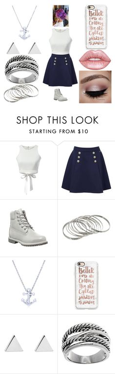 """""""Boxing day with friends #2"""" by morgan-924 ❤ liked on Polyvore featuring Tommy Hilfiger, Timberland, BERRICLE, Casetify, Jennifer Meyer Jewelry, Lord & Taylor and Lime Crime"""