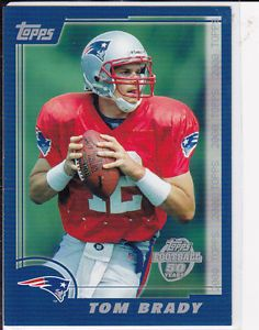 tom brady rookie card | Details about TOM BRADY Topps ROOKIE Throwbacks DRAFT PICK INSERT CARD ...