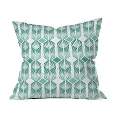The striking geometric pattern of the Emeralds and Diamonds Throw Pillow creates a three-dimensional cube design that will pop against deep gray furnishings. Printed both sides on woven polyester, the ...  Find the Emeralds and Diamonds Throw Pillow, as seen in the Shabby Chic Collection at http://dotandbo.com/collections/shabby-chic?utm_source=pinterest&utm_medium=organic&db_sku=97386