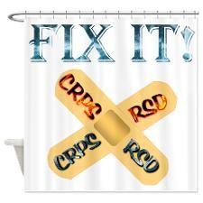 CRPS RSD Fix IT Band-Aid awareness Shower Curtain