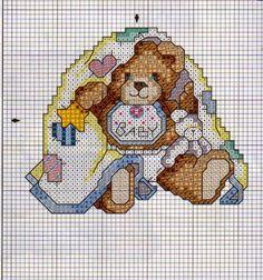 Ursos ponto cruz para bebê
