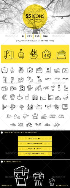 Tour and Travel Icons | Buy and Download: http://graphicriver.net/item/tour-and-travel-icons/7769304?WT.ac=category_thumb&WT.z_author=BlackSalmon&ref=ksioks
