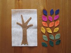 Making collages is great fun - and with these felt designs by happyhawkins, only the background is glued down, so children can rearrange their designs over and over again!