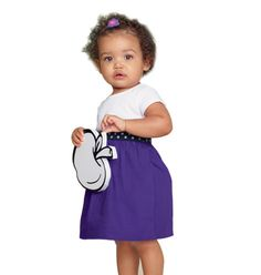 Infant Purple Block Dress - Infant Sizes 0-18 months Upgrade her style with this cute little number. Cotton. Machine wash and dry.