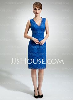 Mother of the Bride Dresses - $156.99 - Empire V-neck Tea-Length Charmeuse  Lace Mother of the Bride Dresses With Lace (008006292) http://jjshouse.com/Empire-V-neck-Tea-length-Charmeuse-Lace-Mother-Of-The-Bride-Dresses-With-Lace-008006292-g6292