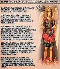 CAIXINHA DE SURPRESAS: ORAÇÃO DE PROTEÇÃO E BENÇÃO DO LAR - SÃO MIGUEL AR...