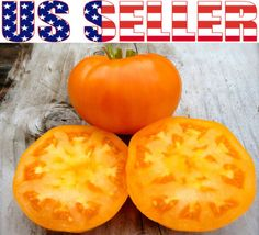 30 Organically Grown Amana Orange 2 lb Tomato Seeds Heirloom Non GMO Low Acid | eBay