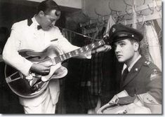 Elvis backstage with Bill Haley 1958