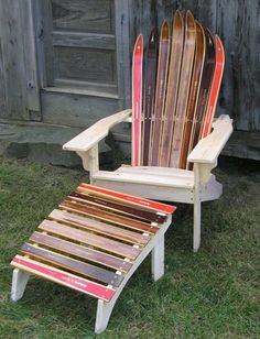 Delicieux Super Cute Adirondack Chair Made Of Skis!