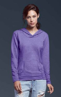 Semi-fitted contoured silhouette with princess seam. Three needle topstitch on hood, neck and shoulder. Three needle sleeve and bottom hem. Princess Seam, French Terry, Crossover, Spun Cotton, Kangaroo, Hoods, Tape, Contrast, Silhouette