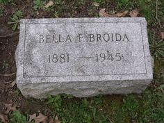 "Isabella ""Bella"" Friedberg Broida headstone in West View cemetery, Pittsburgh, Pennsylvania, Section B, Lot 55. Image courtesy of a FAG volunteer and posted with permission. #genealogy"