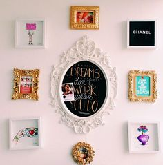 Room decor. Picture frames & DIY chalkboard. By my fave youtuber evelina barry!!!!!!!!!!!!!!!!!!!!