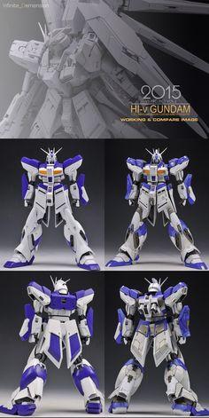 GUNDAM GUY: MG 1/100 Hi Nu Gundam Ver.Ka - Customized Build Gundam Tutorial, Gundam Art, Custom Gundam, Custom Action Figures, Gundam Model, Mobile Suit, The 100, Guys, Building