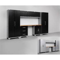 NewAge Products Performance Diamond Series 8 Piece Cabinetry Set / Matte  Black Or Gloss Silver Diamond Plate Costco