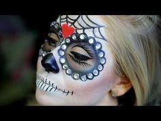 Glam Sugar Skull Makeup-Tut